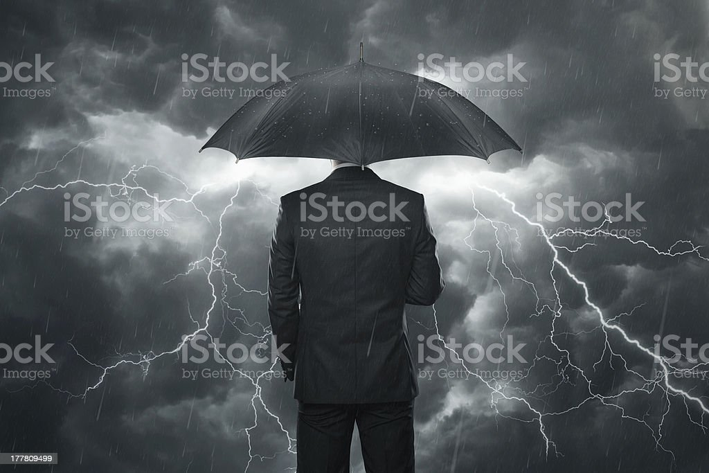 Trouble ahead concept stock photo