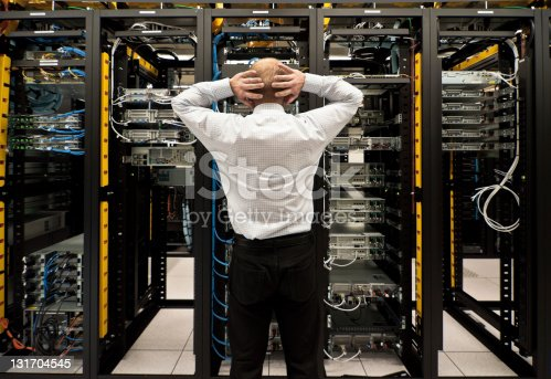 istock Trouble in data center 131704545