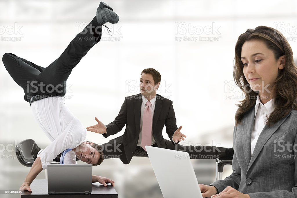 Trouble in office royalty-free stock photo