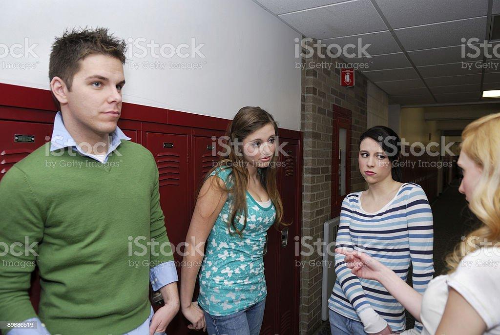 Трудности в школе холл Стоковые фото Стоковая фотография
