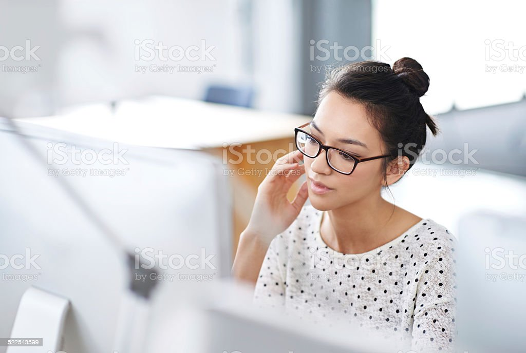 Trouble shooting tech is my specialty stock photo