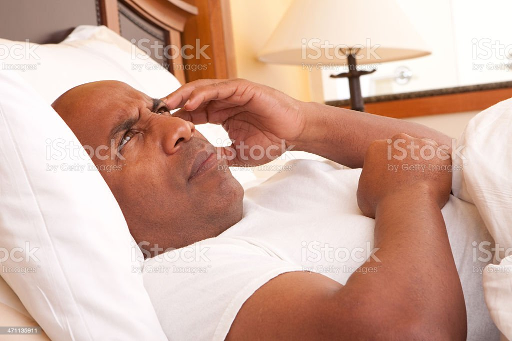 Trouble sleeping royalty-free stock photo