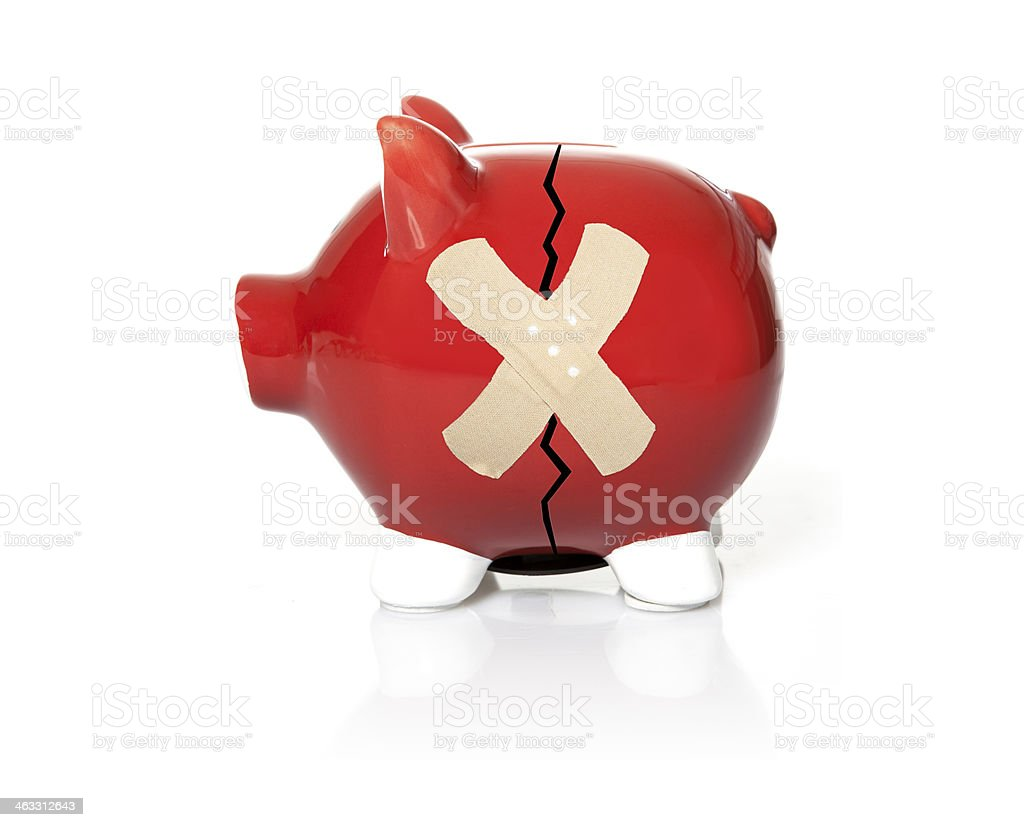 Troubled Finances concept. stock photo