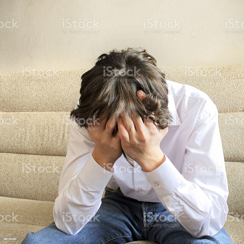 troubled teenager royalty-free stock photo