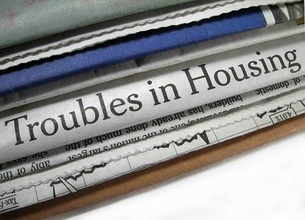 Troubles in Housing stock photo