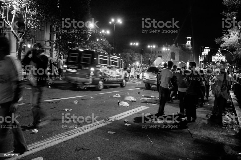 troubles in the night stock photo
