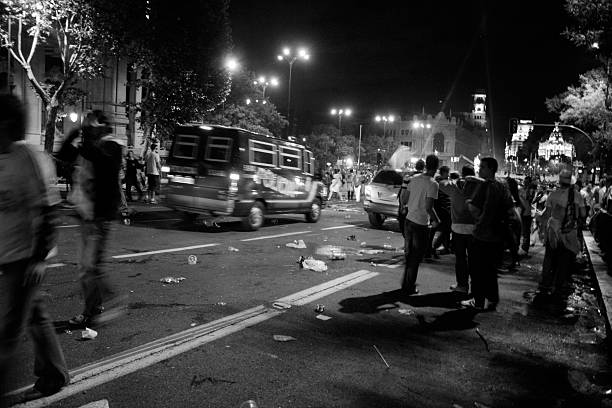 troubles in the night  riot stock pictures, royalty-free photos & images