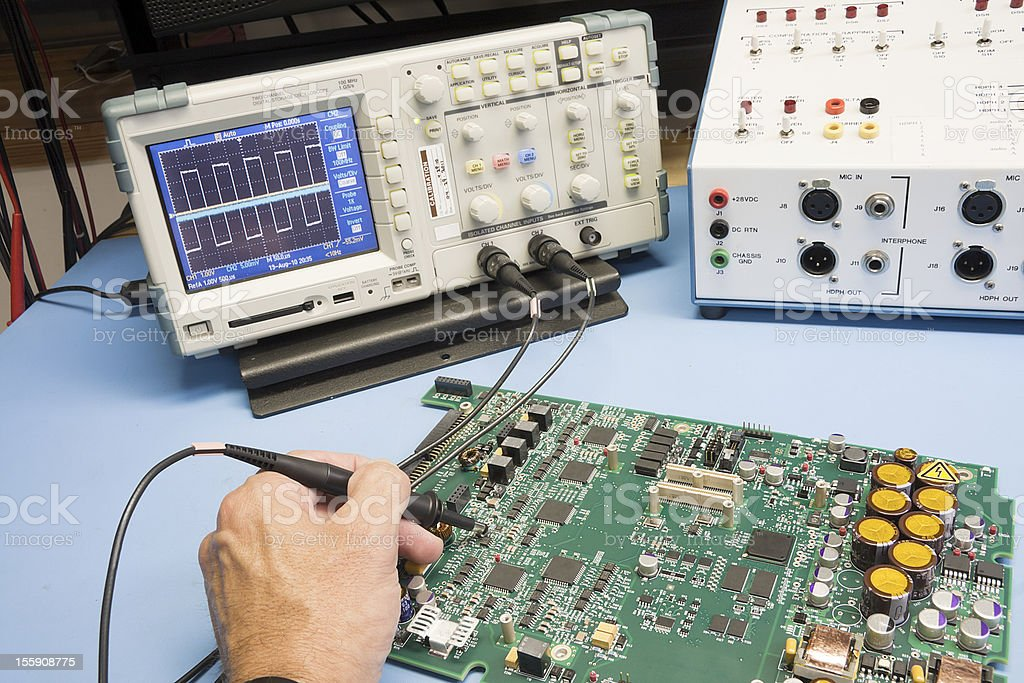 Troubleshooting Electronic Circuit royalty-free stock photo