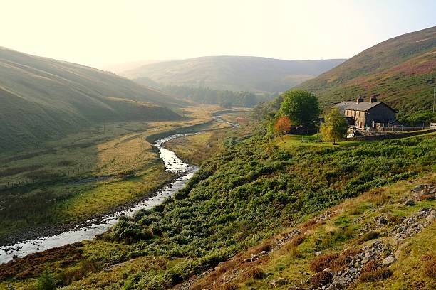 Trough of Bowland Langden Beck on the approach to the Trough of Bowland in the Forest of Bowland, Lancashire. northwest england stock pictures, royalty-free photos & images