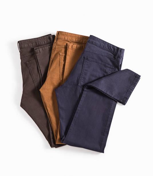 calças, isoladas no fundo branco - calça comprida - fotografias e filmes do acervo