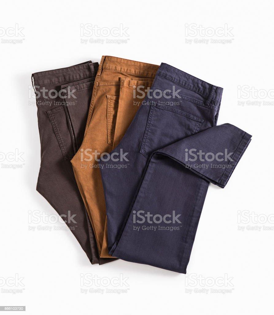 Hosen, die isoliert auf weißem Hintergrund – Foto