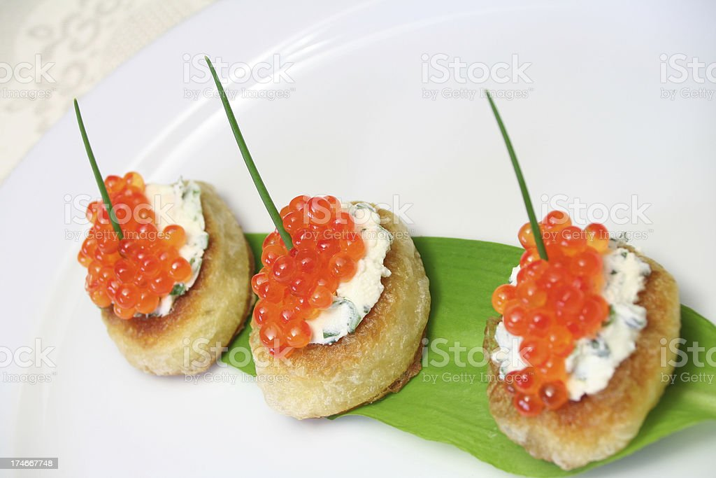 Trout Caviar stock photo