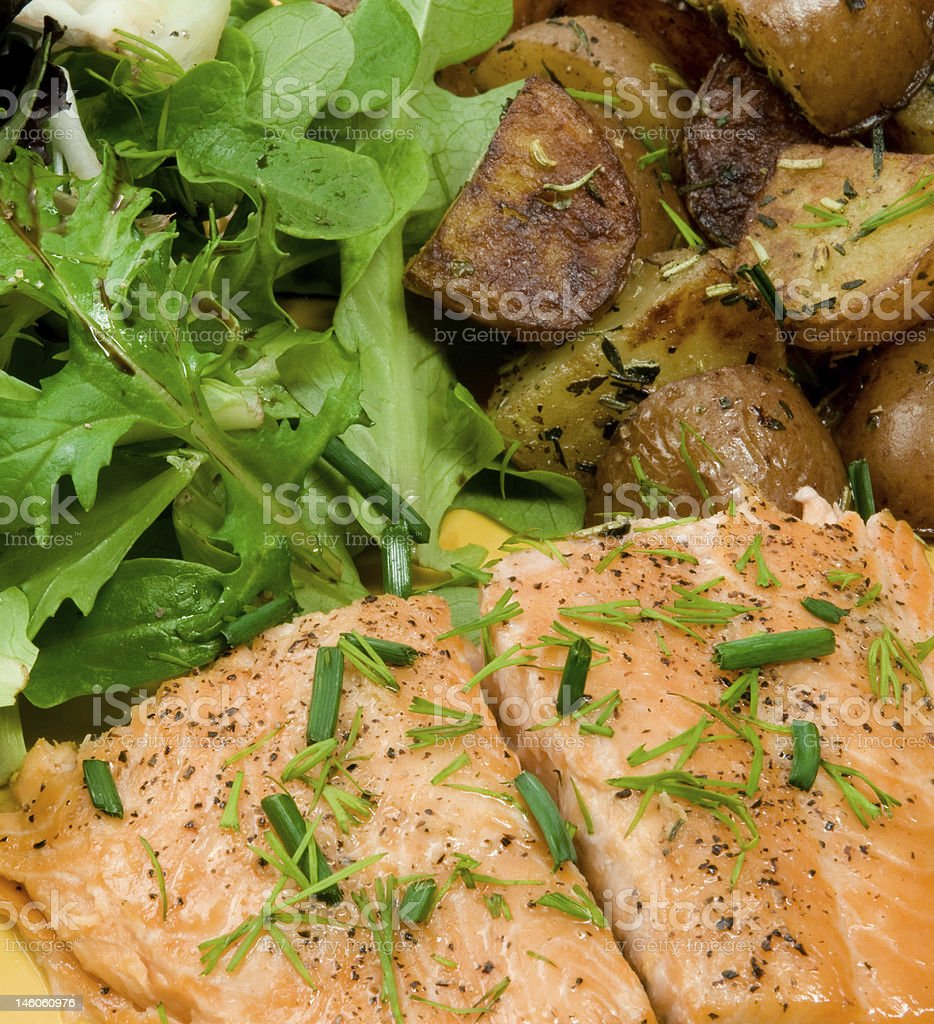 Trout Dinner royalty-free stock photo