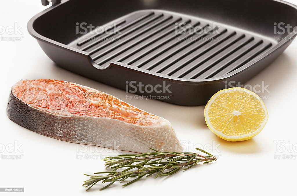 trout fillet royalty-free stock photo