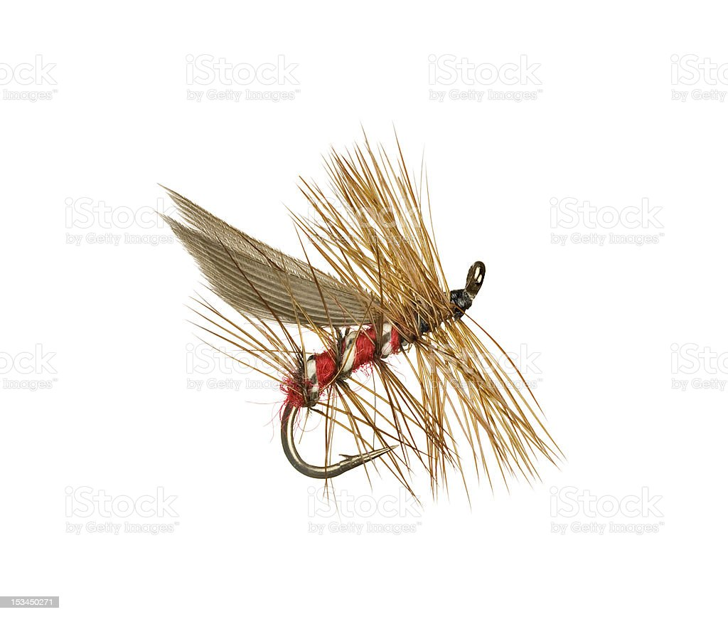 Trout Fishing Fly Lure stock photo