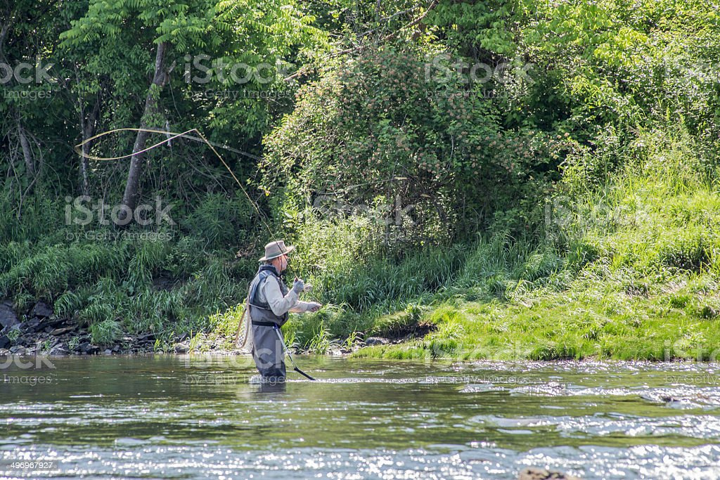 Trout Fishing stock photo