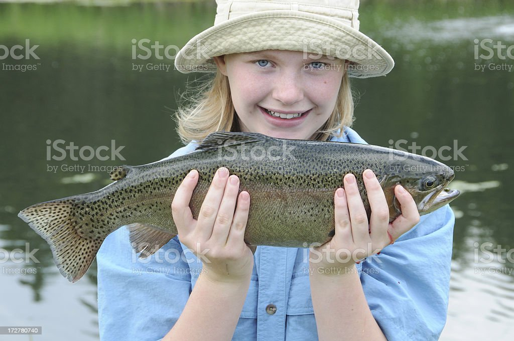 Trout! stock photo
