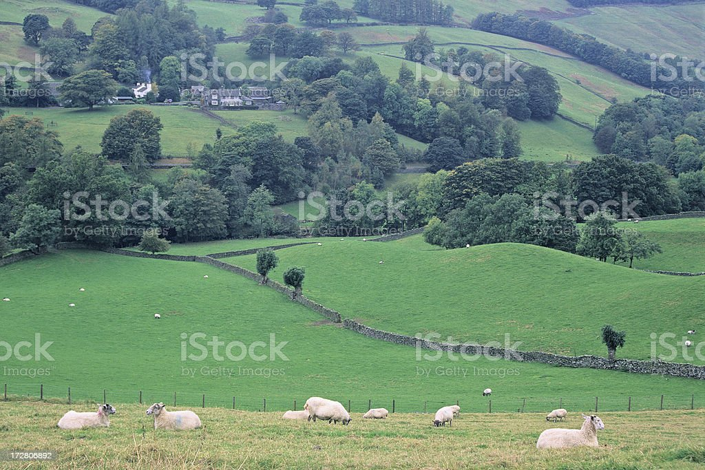 Troutbeck Valley royalty-free stock photo