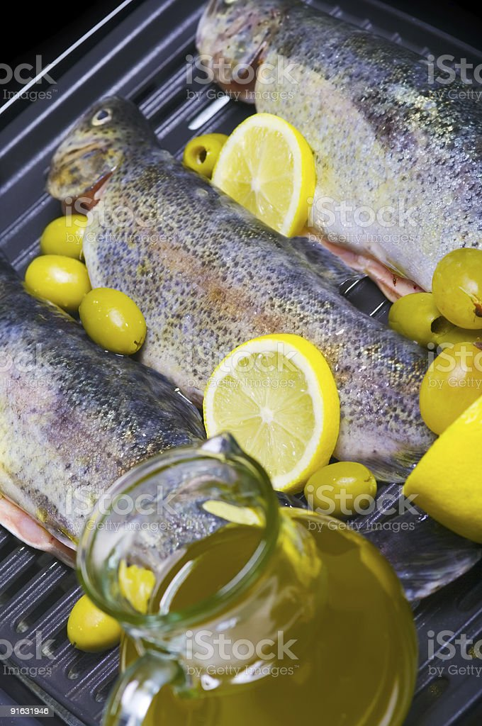 Trouts royalty-free stock photo