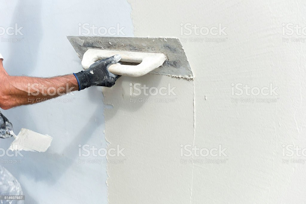 Trowel And Mortar stock photo