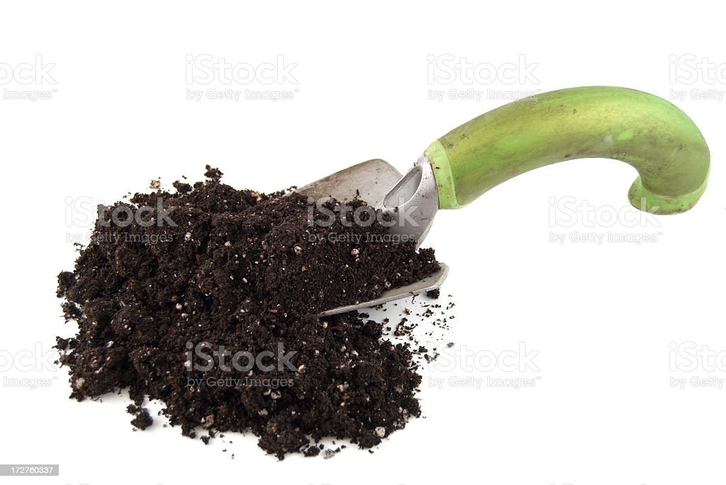 Trowel And Soil royalty-free stock photo