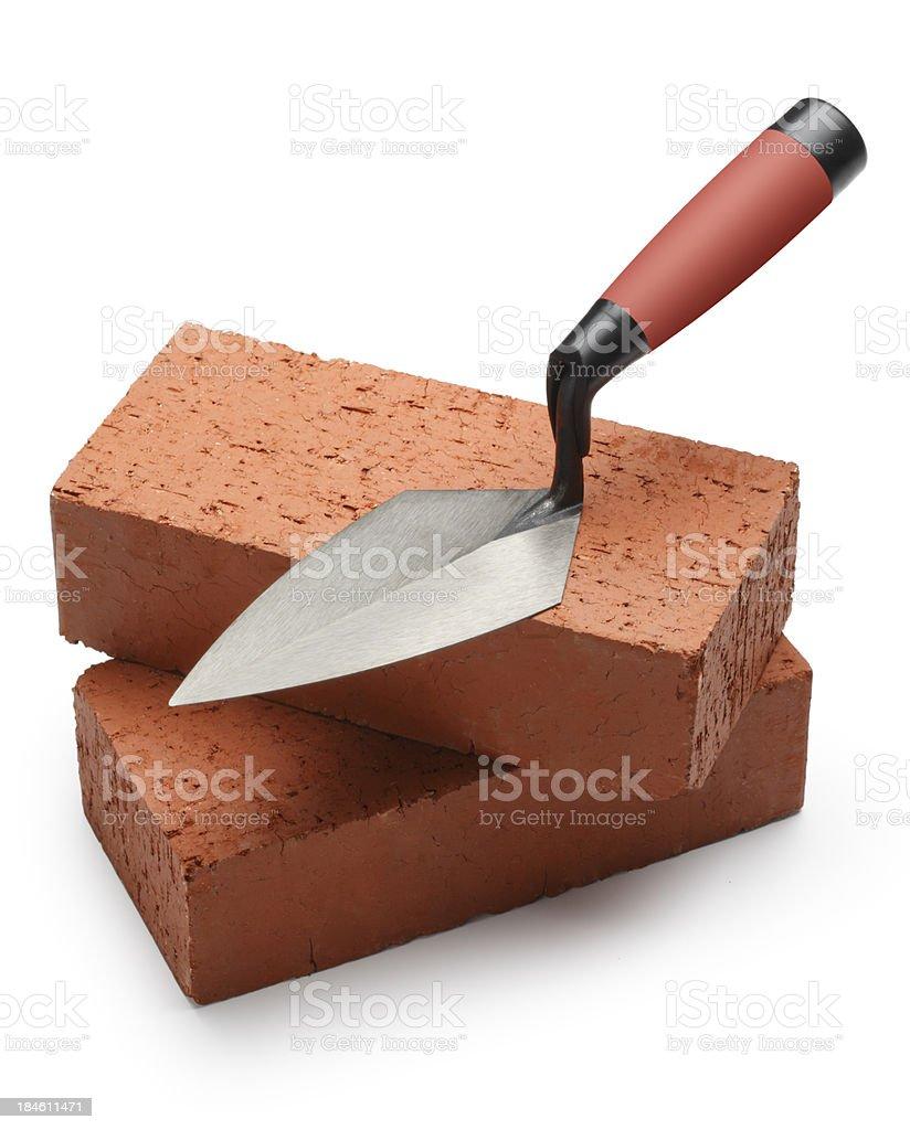 Trowel & Bricks royalty-free stock photo