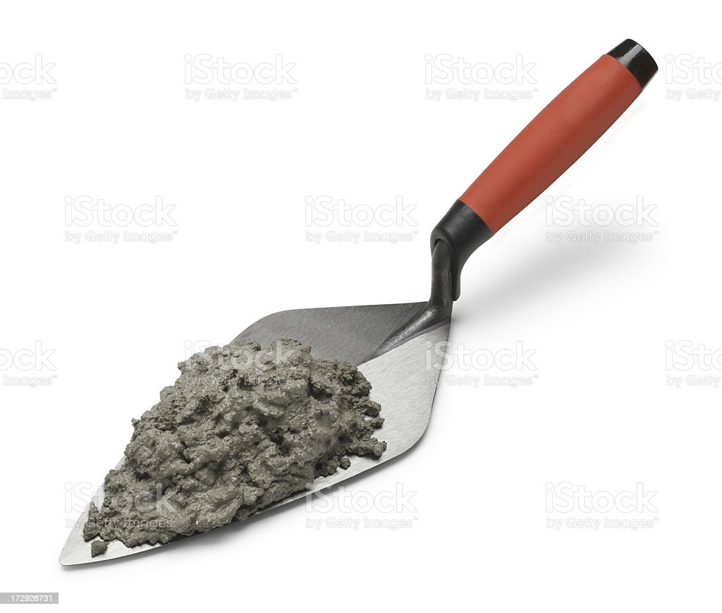 Trowel & Mortar royalty-free stock photo