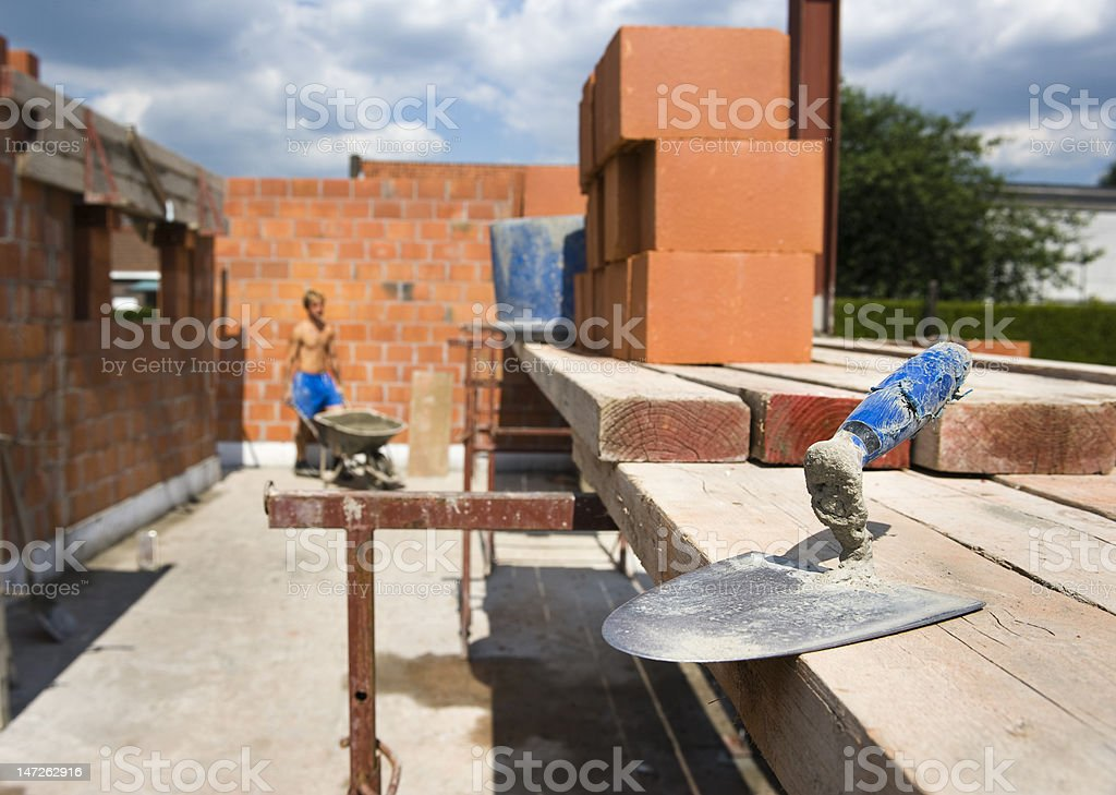 trowel royalty-free stock photo
