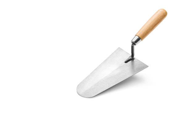 Trowel the mortar stock photo