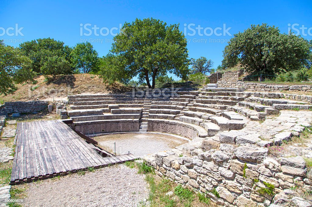 Troy Ruins. stock photo