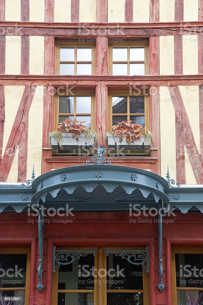 Troyes (Champagne, France) - Old half-timbered house royalty-free stock photo