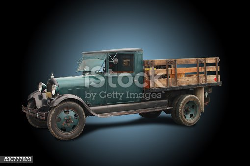 istock Truck - 1929 Ford Model A, Stake Bed, Flat Bed 530777873