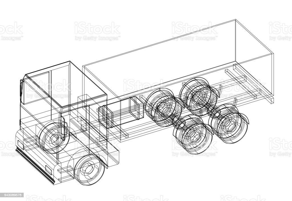 Truck 3d blueprint isolated stock photo more pictures of architect truck 3d blueprint isolated royalty free stock photo malvernweather Image collections