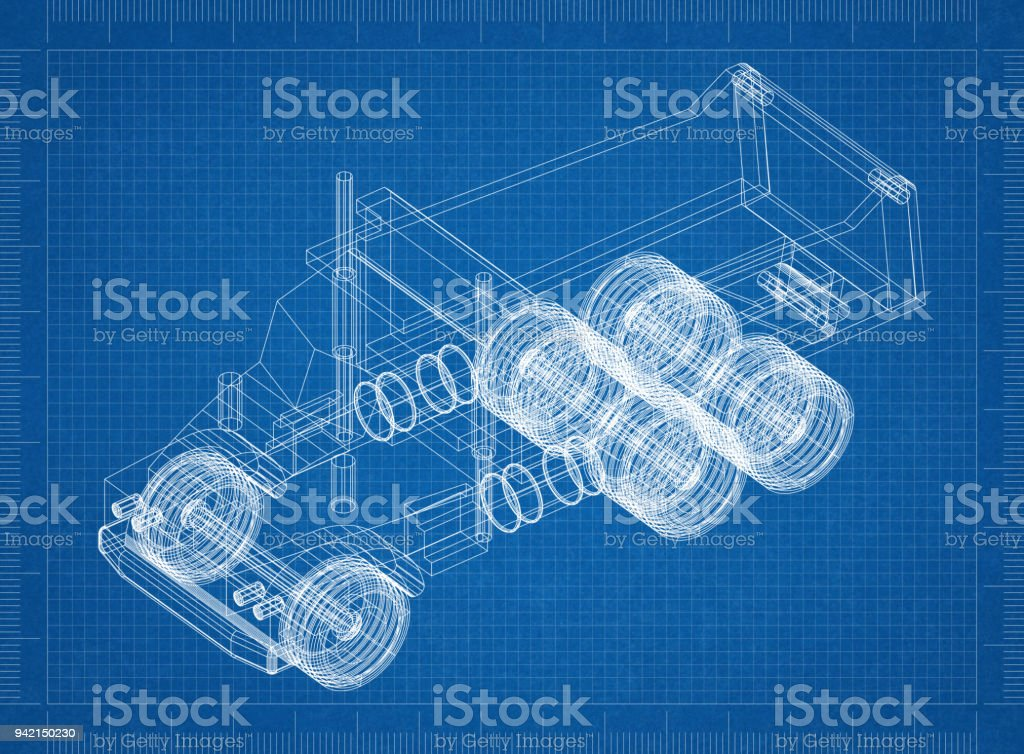 Truck 3d blueprint stock photo more pictures of architect istock truck 3d blueprint royalty free stock photo malvernweather Gallery