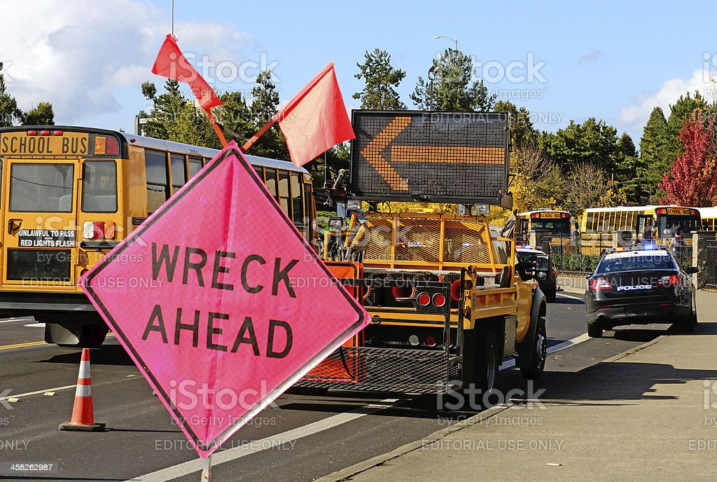 Accidente de transporte - foto de stock