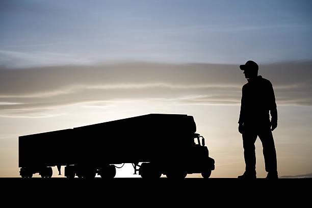 LKW und Fahrer – Foto