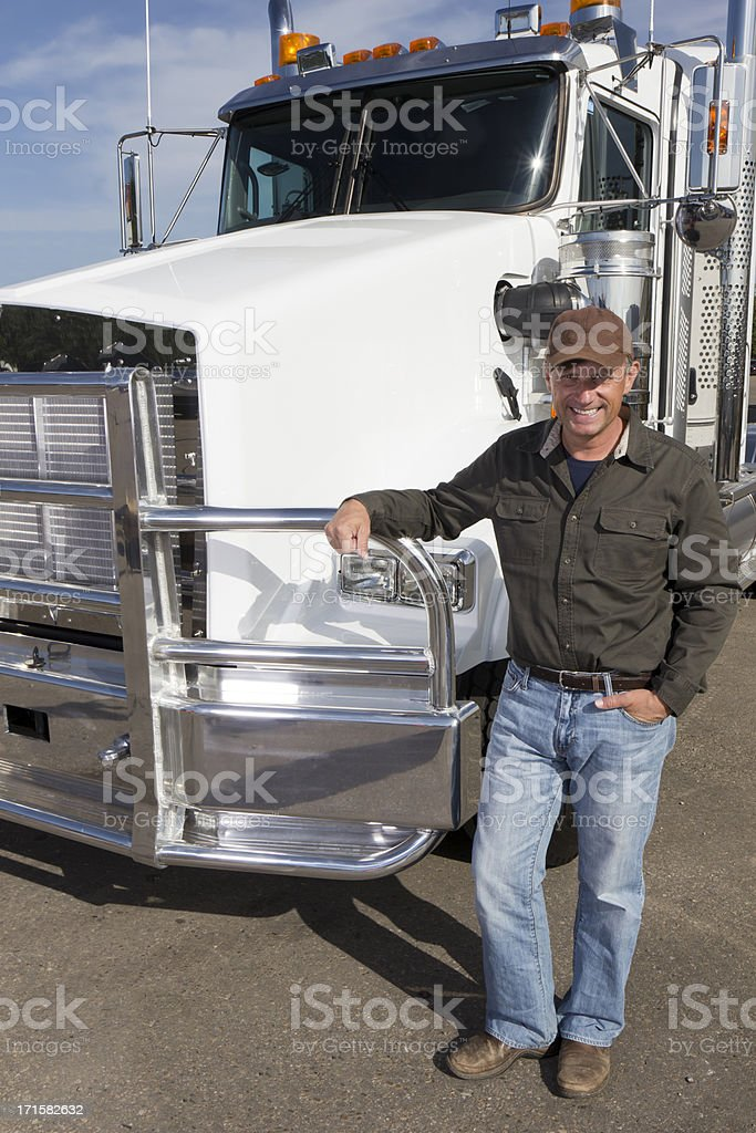 Truck and Driver royalty-free stock photo