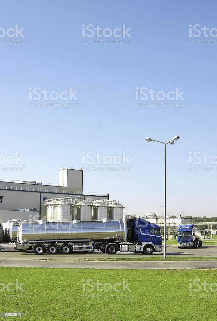 Truck and factory stock photo