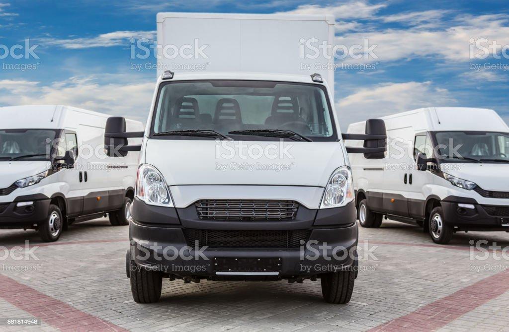LKW und Kleinbusse Warenlieferung – Foto