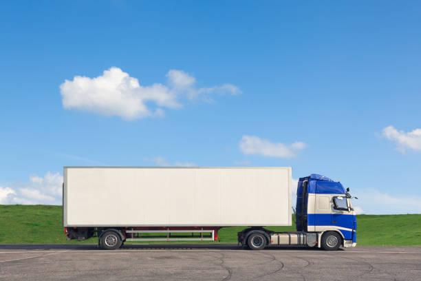 caminhão de reboque - vista lateral - fotografias e filmes do acervo
