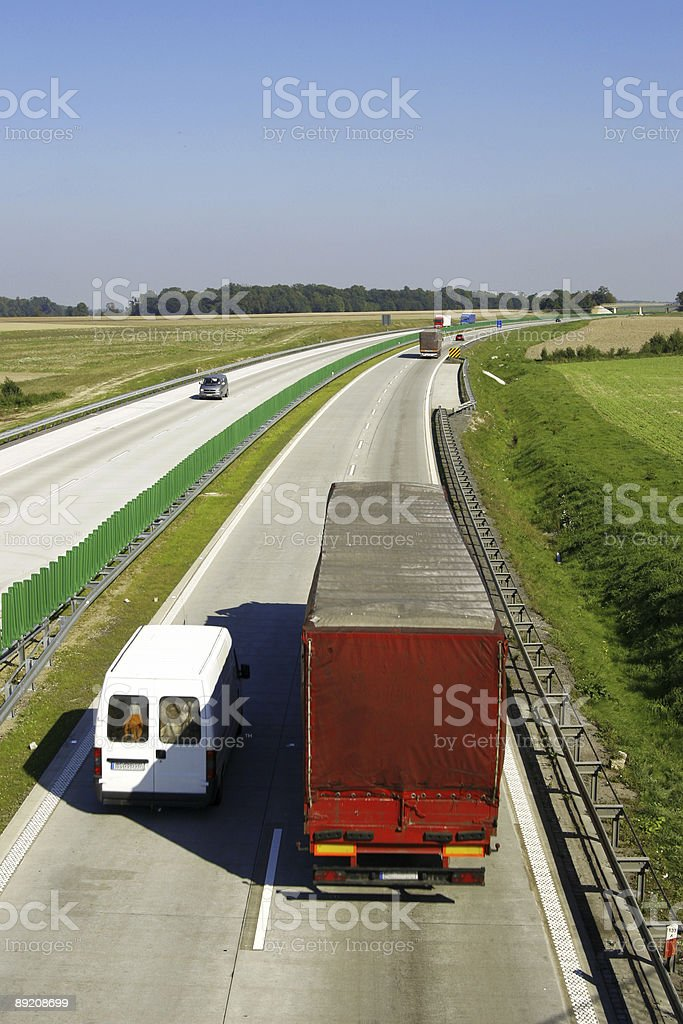 Truck and van royalty-free stock photo