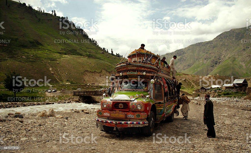 Truck Art - Pakistan stock photo
