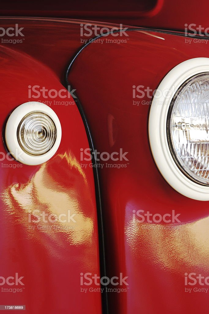 Truck Car Fender Headlight stock photo