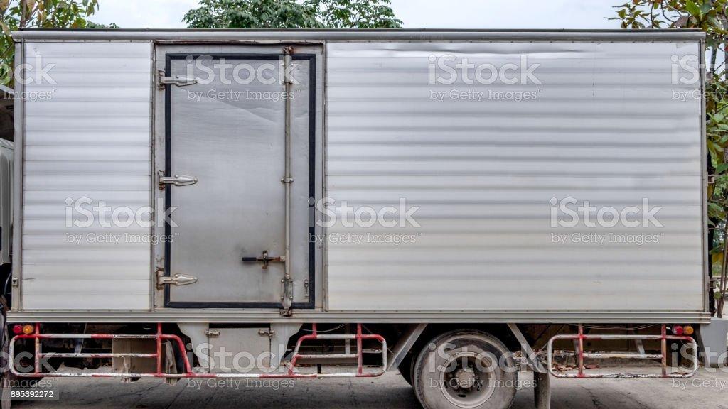 Truck Cargo Aluminium Container Door Side Stock Photo & More