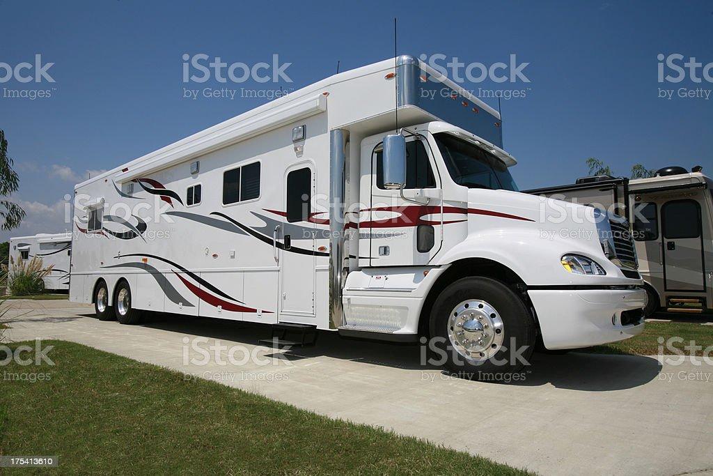 Truck Conversion Recreational Vehicle stock photo