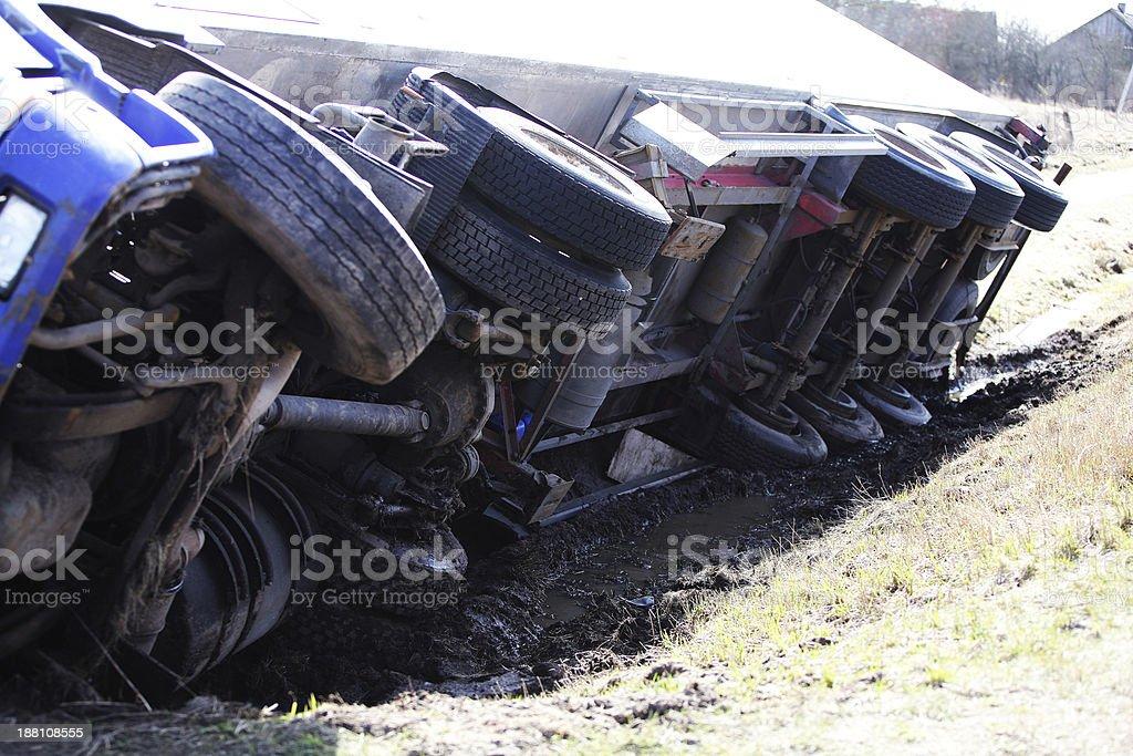Accidente de camión - foto de stock