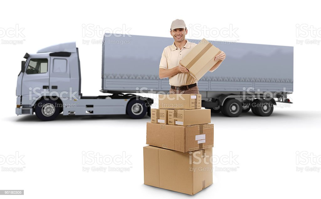 Truck delivery royalty-free stock photo