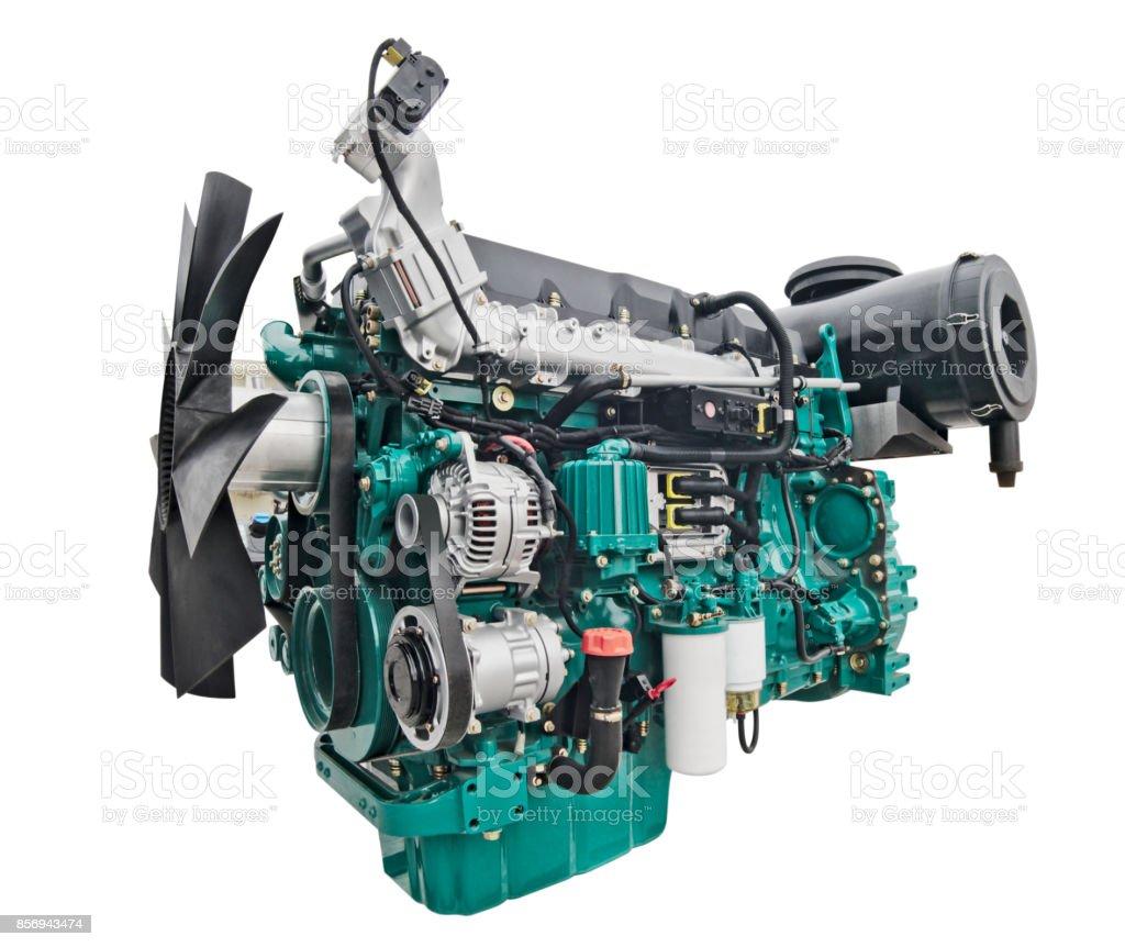 Fotografía de Motor Diesel De Camión y más banco de imágenes de ...