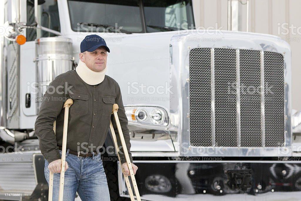 Lastwagenfahrer und Disablity – Foto