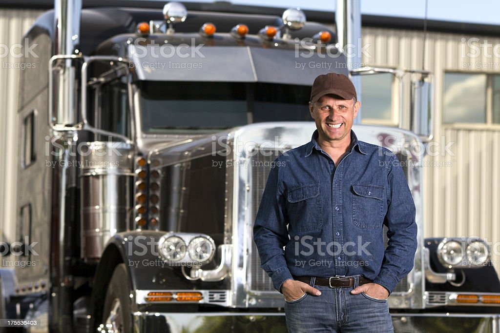 LKW-Fahrer und Outfit – Foto